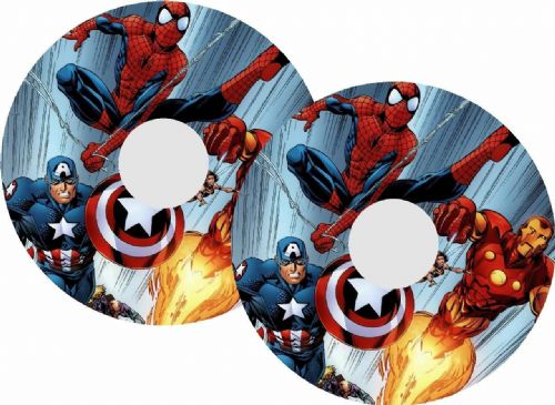 MARVEL AVENGERS SPIDERMAN Wheelchair Spoke Guard Sticker Skins